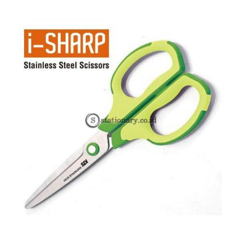 Sdi Gunting Non Slip Grip Scissors I-Sharp 7 Inch (Stainless Steel) #0926C Office Stationery