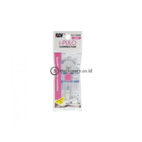 Sdi Refill Tip Ex Kertas Correction Tape I-Push Ct-205Pr Pink (6M) Office Stationery