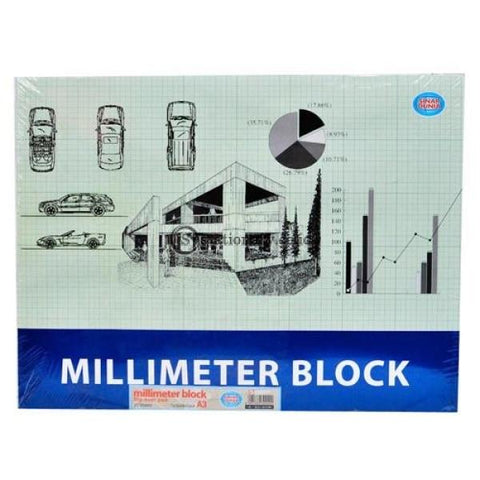 Sinar Dunia Buku Milimeter Block A3 Office Stationery