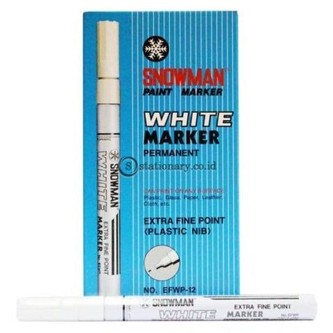 Snowman Paint Marker Putih Extra Fine Efwp-12 Office Stationery