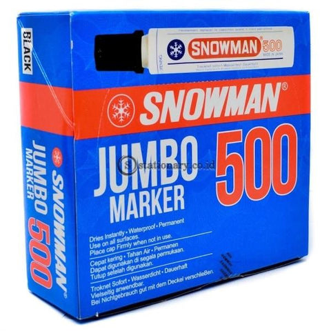 Snowman Permanent Marker Jumbo 500 Office Stationery