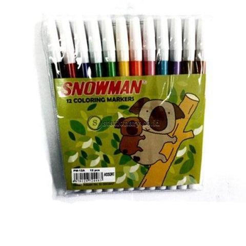 Snowman Spidol 12 Warna Coloring Marker Pw-12A Office Stationery