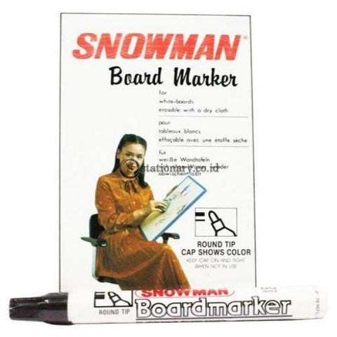 Snowman Whiteboard Marker Bg-12 Blue Office Stationery