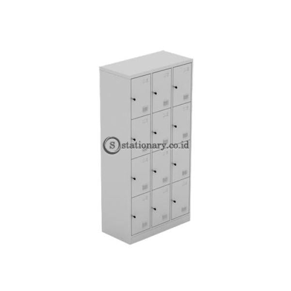 Steel Locker Modera 12 Doors Ml 8812 Grey Office Furniture