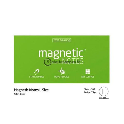 Tesla Amazing Magnetic Notes L (200x100mm) Green