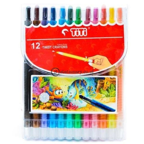 Titi Crayon Putar 12 Warna Office Stationery