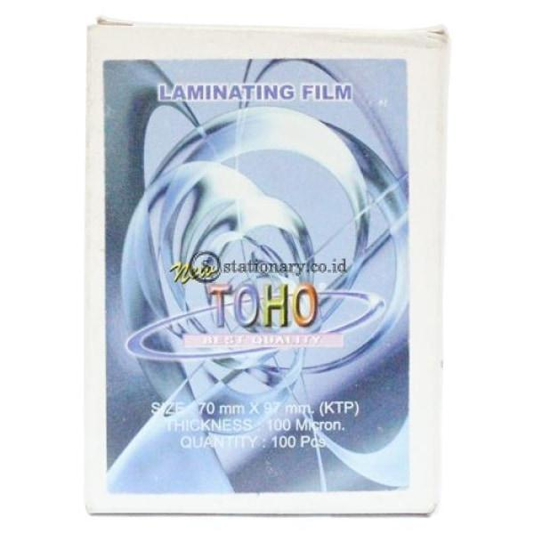 Toho Plastik Laminating Ktp 100Micron Office Stationery