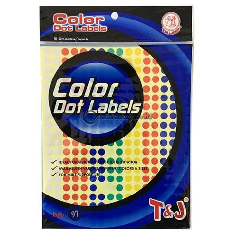 Tom & Jerry Color Dot Labels Label Stiker Bulat (Diameter 8mm) Mix Colours No 97