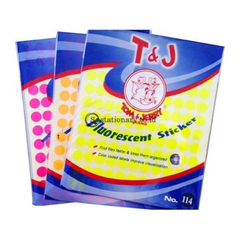 Tom & Jerry Self Adhesive Label Stiker Warna No 114 Office Stationery