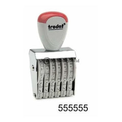 Trodat Stempel Angka 6 Angka 5Mm #1556 Office Stationery