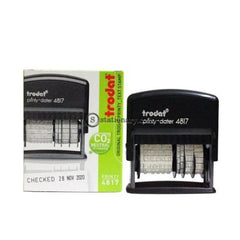 Trodat Stempel Tanggal Dan Text Printy Dater 4817 Office Stationery