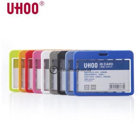 Uhoo Id Card Holder Double Sided Transparant Waterproof Landscape 85 X 54Mm #6637 Office Stationery