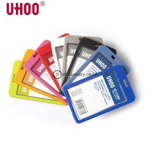Uhoo Id Card Holder Double Sided Transparant Waterproof Potrait 54 X 85Mm #6638 Office Stationery