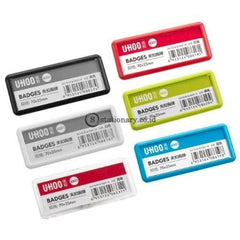 Uhoo Name Plate Pin Badges Clip 70X25Mm #6331 Office Stationery