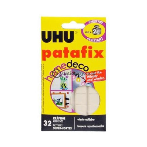 Uhu Patafix Homedeco Tack It Removable Adhesive 32 Glue Pads Office Stationery