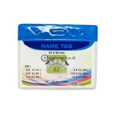 Yushinca Plastik Id Name Tag 60 X 90Mm Landscape A1 (20 Lembar) Office Stationery