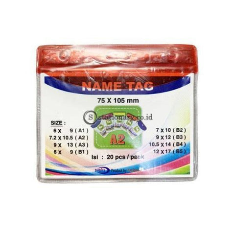 Yushinca Plastik Id Name Tag 70 X 100Mm Landscape A2 (20 Lembar) Office Stationery