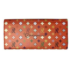 Yushinca Wallet Organizer Keeper Magnet Expanding File For Check Motif Fashion Merah Warna #c-016