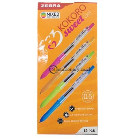 Zebra Ballpoint Kokoro Gel 0.5 Hitam Office Stationery