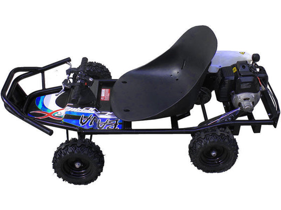 49cc Gas Powered GO KART Off Road cart ScooterX Baja Black Blue Mini Scooter