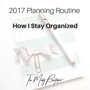 2017 Planning Routine | TMB Blog