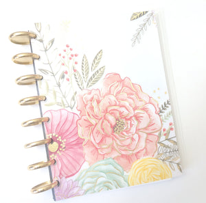 Floral Gold Foil Goal Notebook