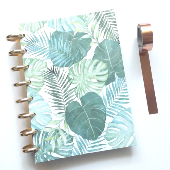 Palm Leaf Goal Notebook