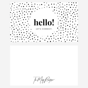 Black Polka Dot Conversation Cards (Set of 20)