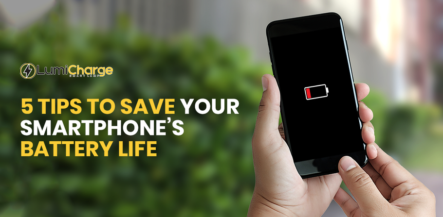 5 tips to save your smartphone's battery life