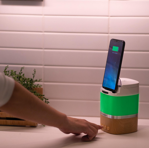 Lumicharge-LD - wireless charger with Bluetooth speaker