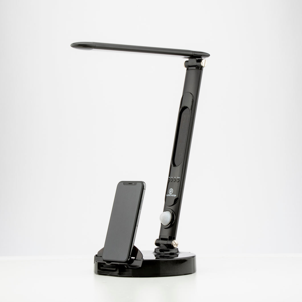 LumiCharge II- All in One LED Desk Lamp, 10W Wireless Charger and Universal Phone Charger & More