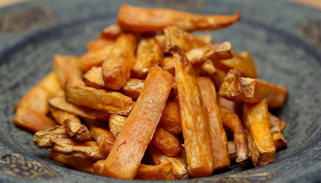 Sweet potato chips on a plate
