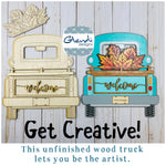 Interchangeable Vintage Truck and 7 inserts, wood sign, paint yourself, girl's night, holiday, seasonal, unfinished wood, craft DIY - Glendi Designs
