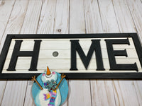 Painted Framed Interchangeable wood Home Sign ship lap - Glendi Designs