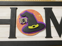 Witch's Hat wooden interchangeable HOME sign icon