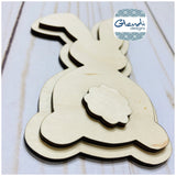 Easter Spring Bunny Peter Cottontail wooden interchangeable HOME sign icon - Glendi Designs