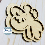 St Patrick's Day Shamrock wooden interchangeable HOME sign icon - Glendi Designs