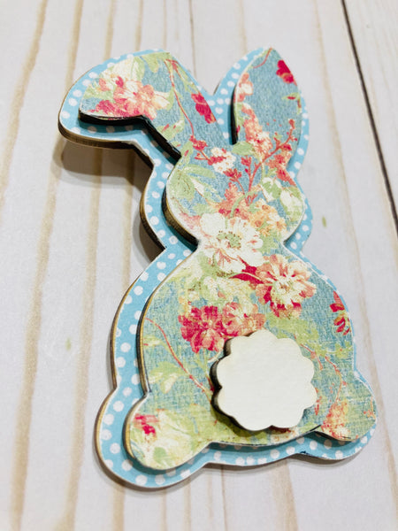 Easter Spring Bunny Peter Cottontail wooden interchangeable HOME sign icon