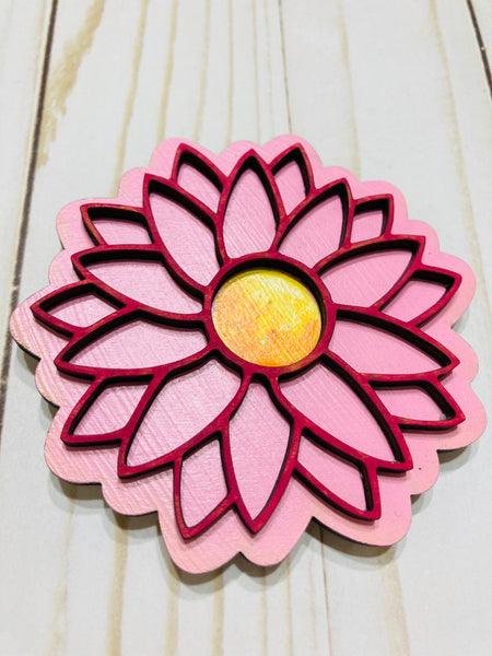 Delicate Flower Spring Flower Summer Blossom  wooden interchangeable HOME sign icon