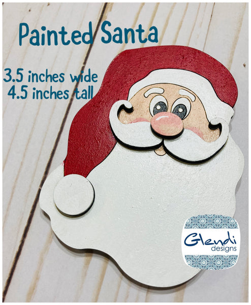 Santa Claus St. Nick wooden interchangeable HOME sign icon - Glendi Designs