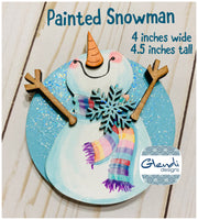 Snowman wooden interchangeable HOME sign icon - Glendi Designs