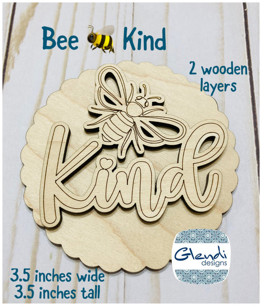 Honey Bee Bee Hive Bee Keeper Bee Kind wooden interchangeable HOME sign icon - Glendi Designs