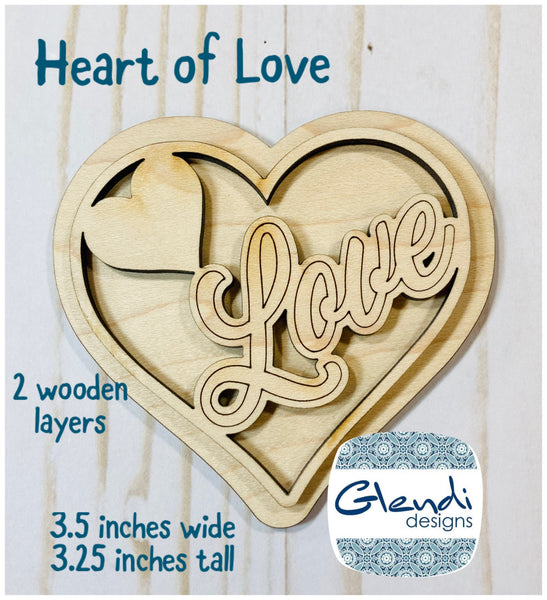Valentine heart of love cupid sweetheart wooden interchangeable HOME sign icon - Glendi Designs