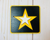 Army logo wooden interchangeable HOME sign magnet - Glendi Designs