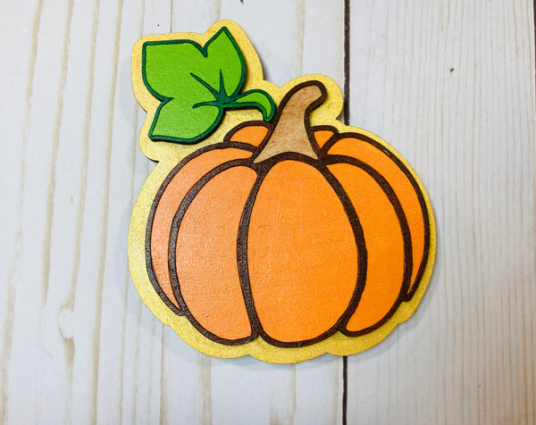 Pumpkin fall harvest wooden interchangeable HOME sign magnet - Glendi Designs