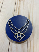 Air Force logo wooden interchangeable HOME sign magnet - Glendi Designs