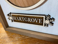 Personalized Engraved  Family Name Christmas Ornament Box Frame Plaque Sign
