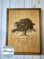 Engraved and Customized Personalized Tree of Life Family Tree Tree of Love - Glendi Designs