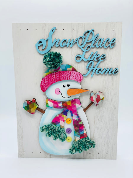 Snowman pallet sign - Glendi Designs