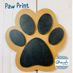 Dog Puppy Paw Print wooden interchangeable HOME sign icon - Glendi Designs